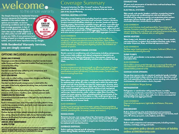 A thumbnail image of the 18-month home warranty brochure.
